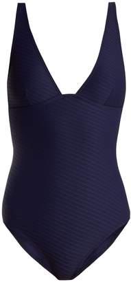 Zimmermann V-neck ribbed swimsuit