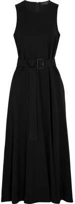 Joseph Akra Belted Canvas Midi Dress - Black