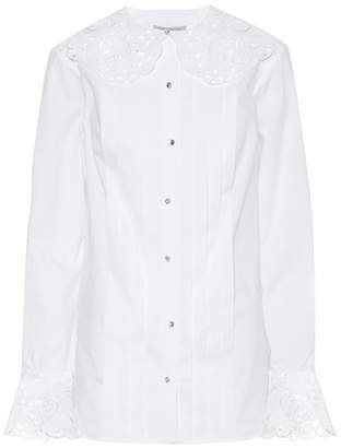 Christopher Kane Lace-trimmed cotton shirt