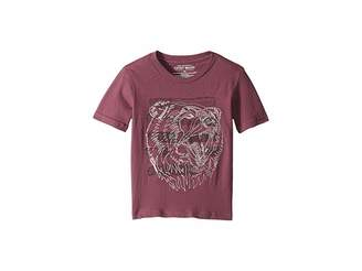 Lucky Brand Kids Bear Head Embroidered Short Sleeve T-Shirt (Little Kids/Big Kids)
