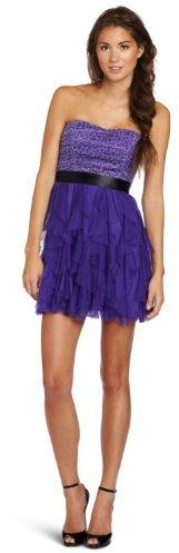 Teeze Me Juniors Short Cheetah Print Top With Solid Petal Skirt Tube Dress