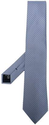 Giorgio Armani geometric patterned tie