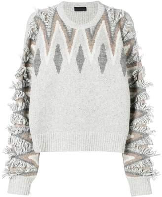 Diesel Black Gold argyle knit jumper