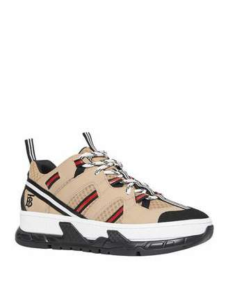 Burberry Union Low Mixed Platform Sneakers