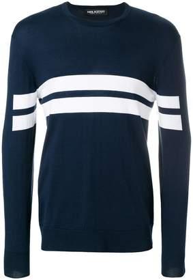Neil Barrett two stripes sweater