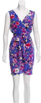 Yumi Kim Silk Wrap Mini Dress