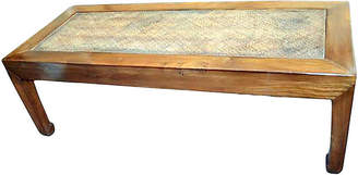 One Kings Lane Vintage Antique Woven Elm Wood Coffee Table