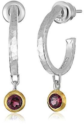 """Gurhan Skittle"""" Sterling Pink Topaz Hoop Earrings"""