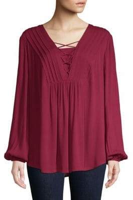 Style&Co. Style & Co. Lace-Up Tunic