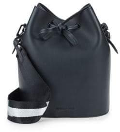 KENDALL + KYLIE Mini Leather Drawstring Bucket Bag