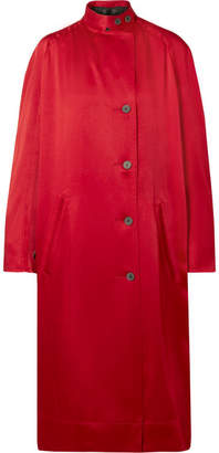 Haider Ackermann Satin Coat - Claret