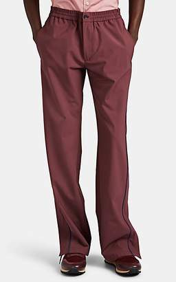 Valentino Men's Contrast-Tipped Wool-Blend Drawstring Track Pants - Wine