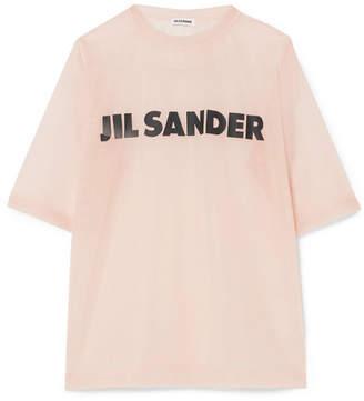 Jil Sander Printed Organza T-shirt - Blush