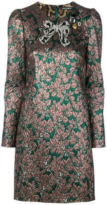 Dolce & Gabbana bow brocade dress