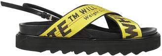 Off-White Criss Cross Strap Flat Sandals