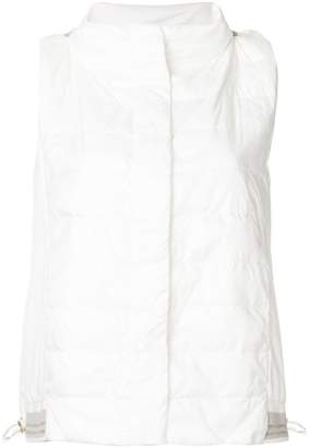 Lorena Antoniazzi hooded quilted gilet