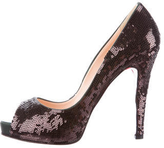 Christian Louboutin Christian Louboutin Sequined Very Prive Pumps
