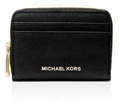 MICHAEL Michael Kors Zip Around Leather Card Case