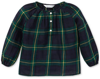Polo Ralph Lauren Baby Girls Plaid Cotton Top