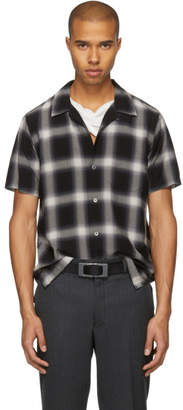 Attachment Black and White Short Sleeve Check Shirt