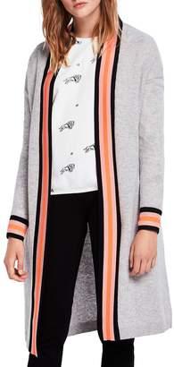 Scotch & Soda Varsity Stripe Detail Long Cardigan