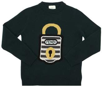 Fendi Padlock Intarsia Wool Knit Sweater
