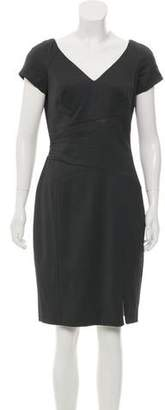 Rachel Zoe Short Sleeve Draped Knee-length Dress