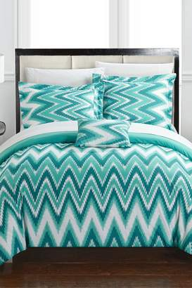 Lucia Reversible Comforter Set - Turquoise