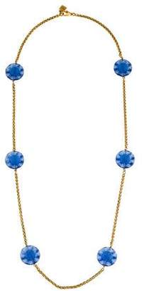 Lalique Crystal Floral Station Necklace
