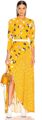 Self-Portrait Self Portrait Floral Twist Neck Maxi Dress in Yellow | FWRD
