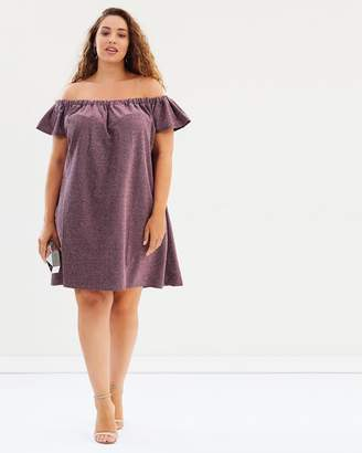 Bardot Dress in Sparkle Jersey