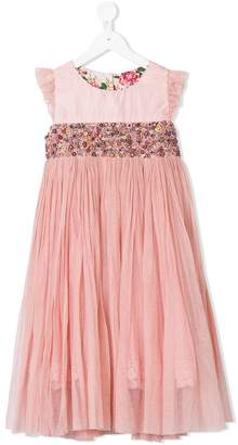 Pero Kids floral embroidered dress