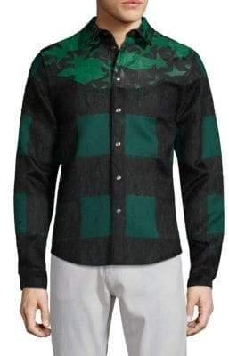 Valentino Star & Check Shirt Jacket