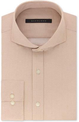 Sean John Men's Classic/Regular Fit Cappuccino Neat-Print Cotton Dress Shirt $69.50 thestylecure.com