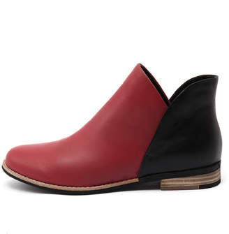 Django & Juliette New Aframe Red Black Womens Shoes Casual Boots Ankle