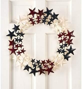 Americana Plow & Hearth Metal Stars 22 Wreath