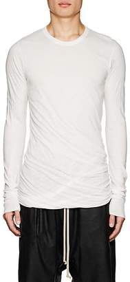 Rick Owens Men's Double-Layer Cotton Long-Sleeve T-Shirt