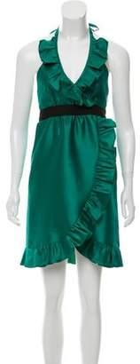 Tibi Wool Silk Dress