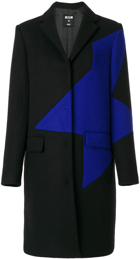 MSGM contrast panel coat