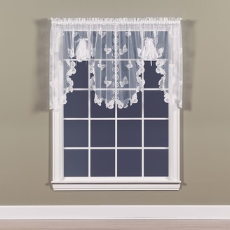 Saturday Knight Ltd. Butterfly Lace Swag Window Valance - 56'' x 38''
