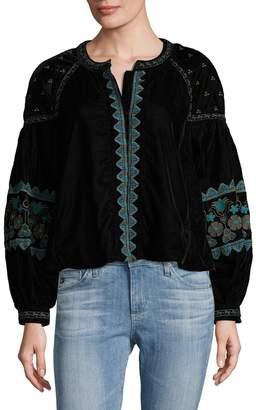 Antik Batik Women's Koti Embroidered Jacket