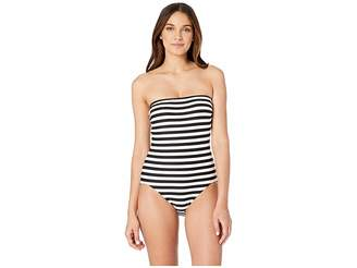 Kate Spade Cape May Classic Bandeau One-Piece w/ Removable Soft Cups