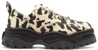 Eytys Angel Leopard Print Leather Trainers - Mens - Multi