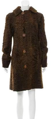 Couture Bisang Broadtail Knee-Length Coat