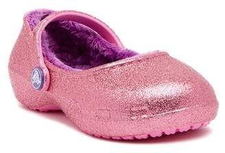 Crocs Karin Sparkle Faux Fur Lined Clog (Toddler & Little Kid)