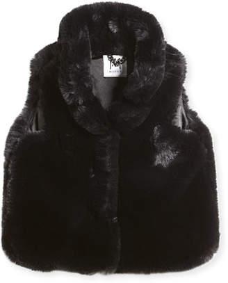 Milly Minis Faux-Fur Vest, Size 4-7