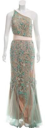 Terani Couture One-Shoulder Embellished Dress