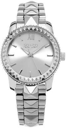 Co SO & NY Womens Madison Stainless Steel Bracelet Dress Pyramid Design Quartz Watch J155P58