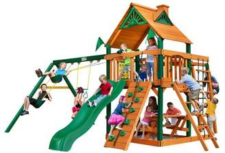 Gorilla Playsets Navigator Swing Set Canopy: Wood Roof