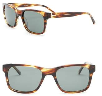 Ted Baker 55mm Rectangle Sunglasses